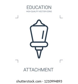 attachment icon. high quality line attachment icon on white background. from education collection flat trendy vector attachment symbol. use for web and mobile