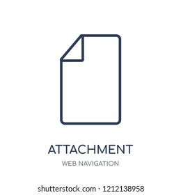 Attachment icon. Attachment linear symbol design from Web navigation collection. Simple outline element vector illustration on white background.