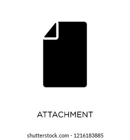 Attachment icon. Attachment symbol design from Web navigation collection. Simple element vector illustration on white background.