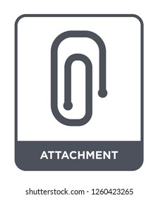 attachment icon vector on white background., attachment simple element illustration