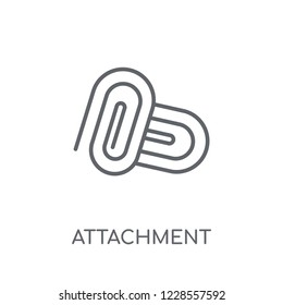 Attachment linear icon. Modern outline Attachment logo concept on white background from User Interface and Web Navigation collection. Suitable for use on web apps, mobile apps and print media.