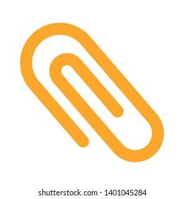 Attachment, paperclip icon. sign for mobile concept and web design. Paper attach clip vector icon. Paper clip sign icon. Clip symbol. attachment