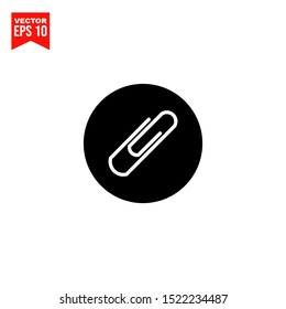 Attachment, paperclip icon template black color editable. Paperclip symbol vector sign isolated on white background. Simple logo vector illustration for graphic and web design.