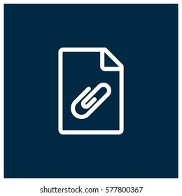 Attachment vector icon, file symbol. Modern, simple flat vector illustration for web site or mobile app