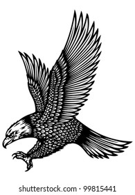 attacking eagle tattoo