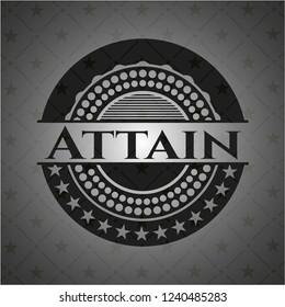 Attain black emblem