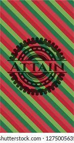 Attain christmas emblem background.