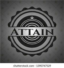 Attain dark emblem. Vector Illustration. Detailed.