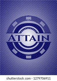 Attain emblem with jean high quality background