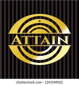 Attain gold badge or emblem