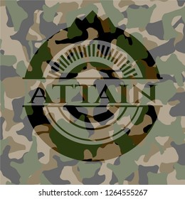 Attain on camouflaged pattern
