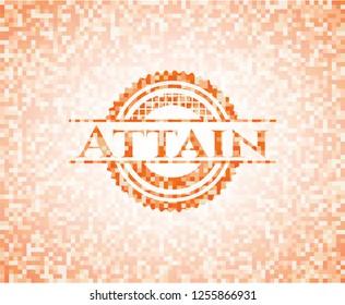 Attain orange mosaic emblem