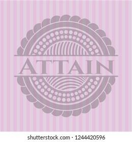 Attain pink emblem