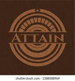 Attain wood emblem. Vintage. Vector Illustration.
