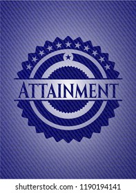Attainment badge with jean texture