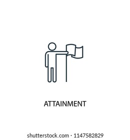attainment concept line icon. Simple element illustration. attainment concept outline symbol design from success set. Can be used for web and mobile UI/UX