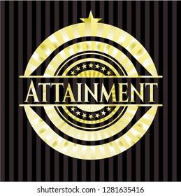 Attainment gold shiny emblem