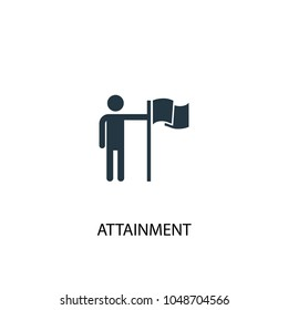 attainment icon. Simple element illustration. attainment concept symbol design from success collection. Can be used for web and mobile.