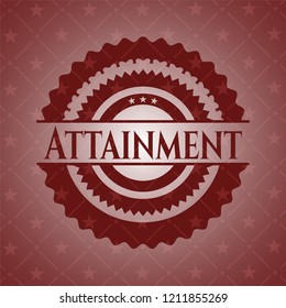 Attainment red icon or emblem