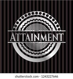 Attainment silver shiny emblem