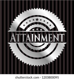 Attainment silvery emblem
