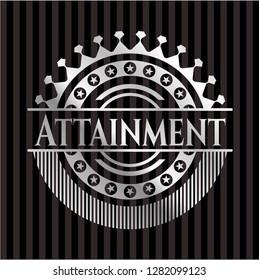 Attainment silvery shiny badge