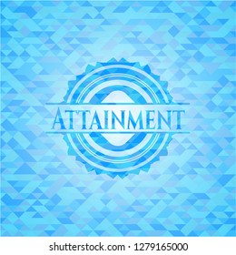 Attainment sky blue mosaic emblem