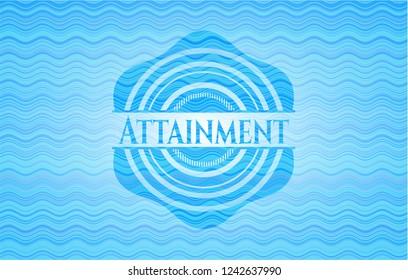 Attainment water concept emblem background.