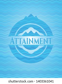 Attainment water concept emblem background. Vector Illustration. Detailed.