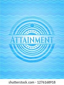 Attainment water wave concept emblem background.