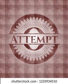 Attempt red seamless geometric badge.