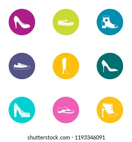 Attend icons set. Flat set of 9 attend vector icons for web isolated on white background