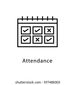 Attendance Vector Line Icon