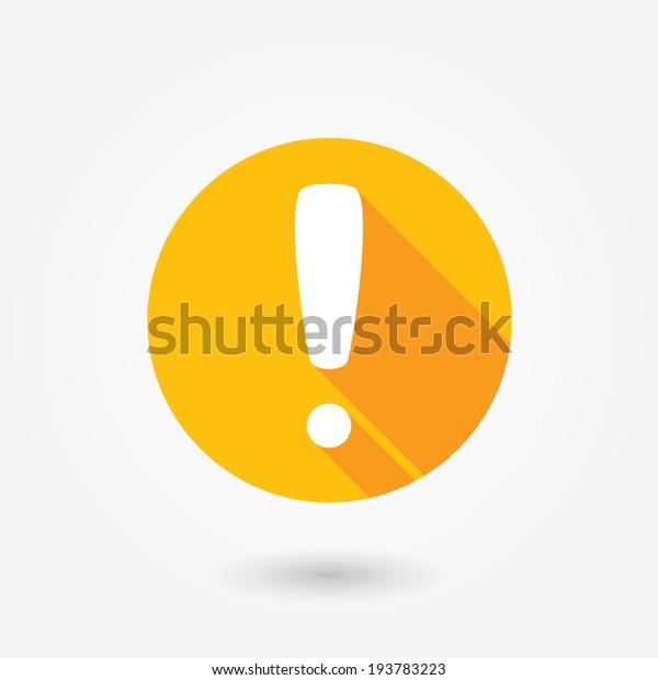 Achtung Vorsicht Symbol Symbol. Ausrufezeichen. Gefahrenwarnsymbol. Flache Designtaste. Warnstempel. Fehler.Warnsymbol. Gefahr. Prompt. Problemzeichen. Vorsicht bei Informationen. Wichtiges Symbol.