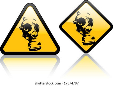 Attention Gas Mask Zone