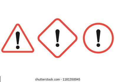 The attention icon. Danger symbol. Error icon