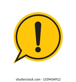 Attention icon, exclamation mark icon flat design illustration