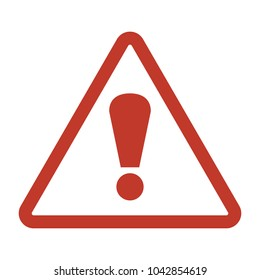 Attention icon on white background. Vector illustration
