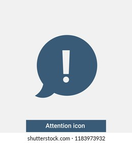 Attention icon. Vector