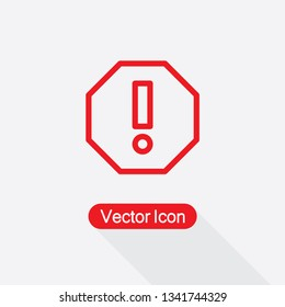 Attention Icon Vector Illustration Eps10