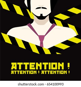 Attention man