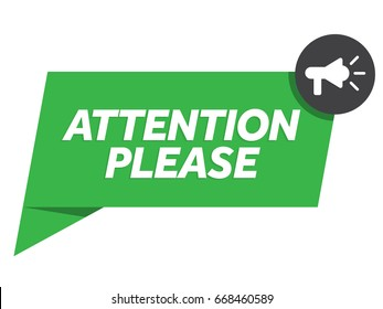 Attention please badge vector