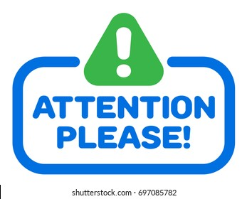 Attention Please Badge Vector With Exclamation Mark Icon