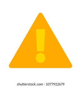 Attention sign - caution alert symbol - exclamation mark illustration, attention icon