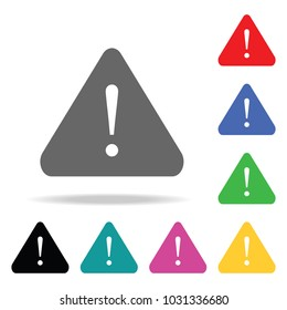attention sign with exclamation mark icon. Elements in multi colored icons for mobile concept and web apps. Icons for website design and development, app development on white background