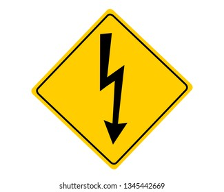 Attention sign high voltage