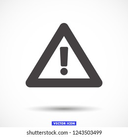 attention sign vector icon 10 eps