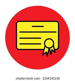 Attestation icon. Attestation symbol. Flat design.