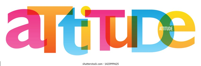 ATTITUDE colorful vector concept word typography banner