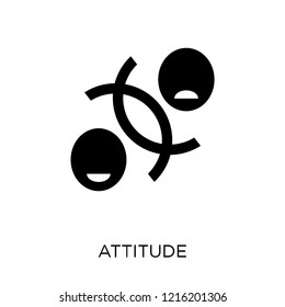 Attitude icon. Attitude symbol design from Startup collection. Simple element vector illustration on white background.